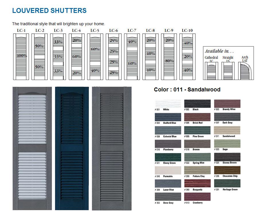 Window Shutters Exterior Vinyl